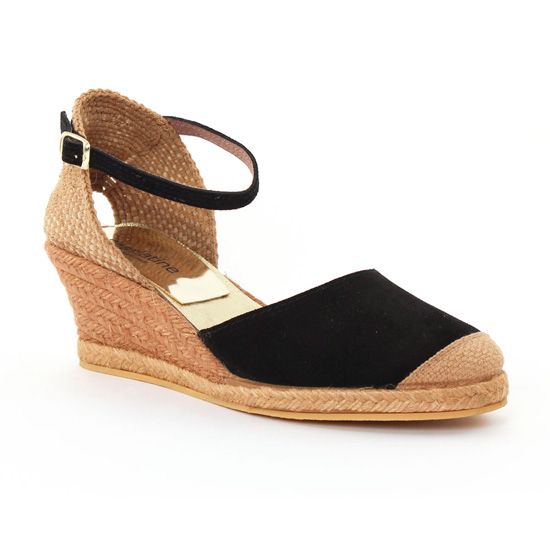 Espadrilles Scarlatine 5t50 Black, vue principale de la chaussure femme