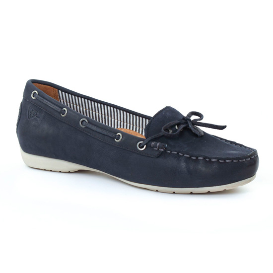 Tamaris 24607 Navy   mocassin confort bleu marine printemps