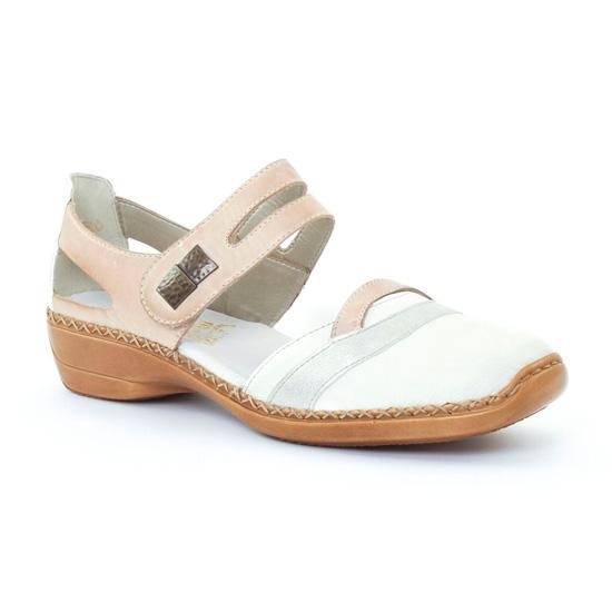 Nu Pieds Et Sandales Rieker 41320 Weiss, vue principale de la chaussure femme