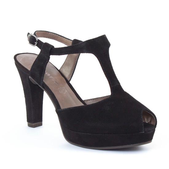 Nu Pieds Et Sandales Tamaris 28338 Black, vue principale de la chaussure femme