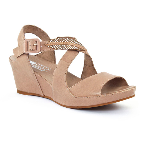 Nu Pieds Et Sandales Mamzelle Dorian Taupe, vue principale de la chaussure femme