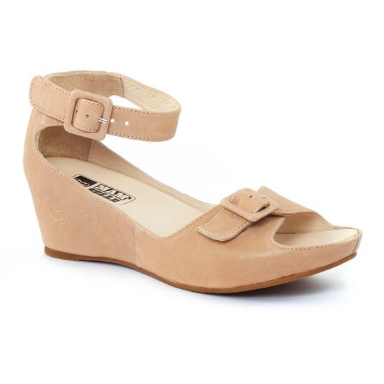 Nu Pieds Et Sandales Mamzelle Dring Craie, vue principale de la chaussure femme