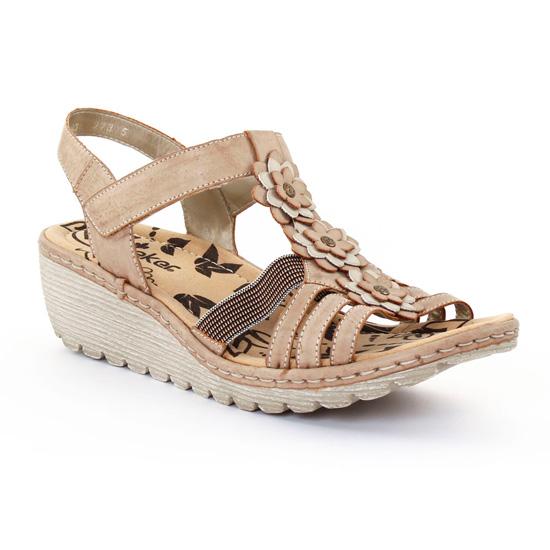 Nu Pieds Et Sandales Rieker K3762 Muschel, vue principale de la chaussure femme