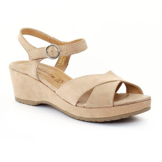 Nu Pieds Et Sandales Tamaris 28398 Nature, vue principale de la chaussure femme