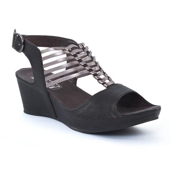 Nu Pieds Et Sandales Mamzelle Dylan Noir, vue principale de la chaussure femme