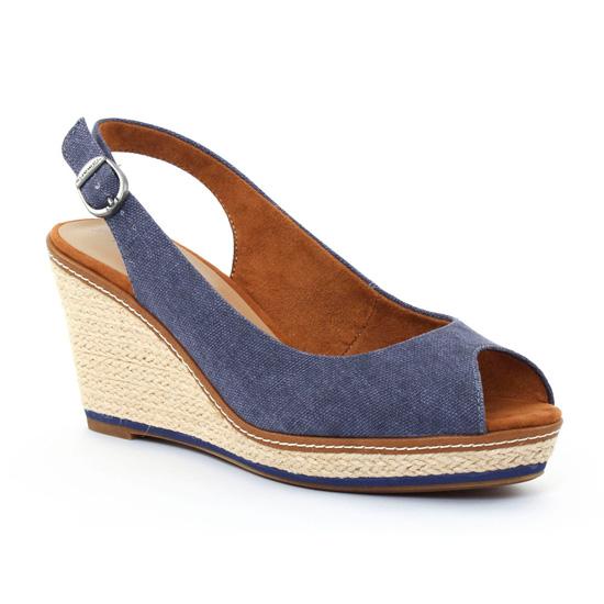 Nu Pieds Et Sandales Tamaris 28332 Denim, vue principale de la chaussure femme