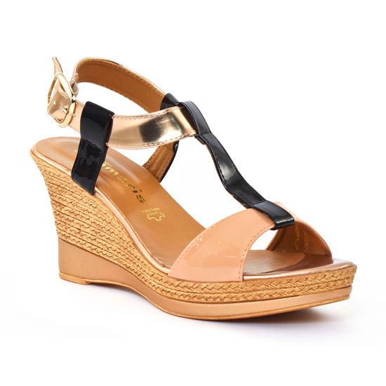 Nu Pieds Et Sandales Tamaris 28085 Nude, vue principale de la chaussure femme