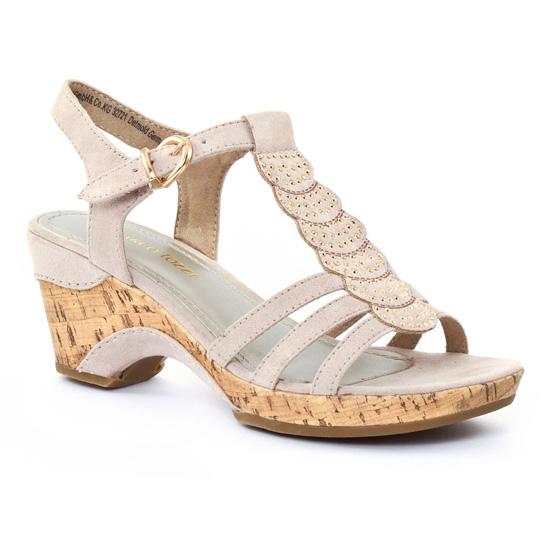 Nu Pieds Et Sandales Marco Tozzi 28005 Dune, vue principale de la chaussure femme