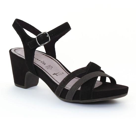Nu Pieds Et Sandales Tamaris 28328 Black, vue principale de la chaussure femme