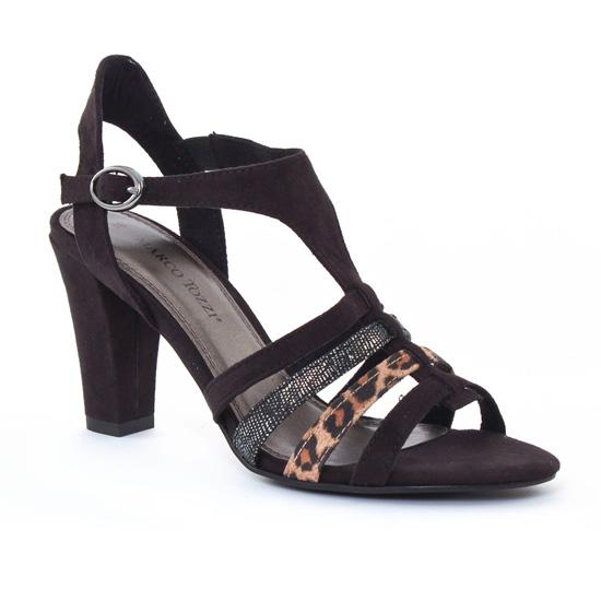 Nu Pieds Et Sandales Marco Tozzi 28306 Black, vue principale de la chaussure femme