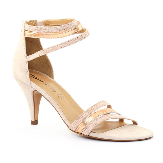 4bba68c3dcb446 Nu Pieds Et Sandales Tamaris 28369 Rose, vue principale de la chaussure  femme