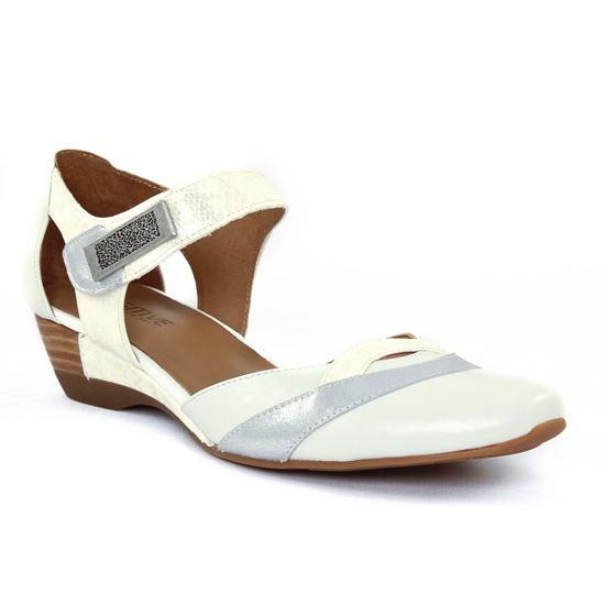 Nu Pieds Et Sandales Fugitive Samy Blanc argent, vue principale de la chaussure femme