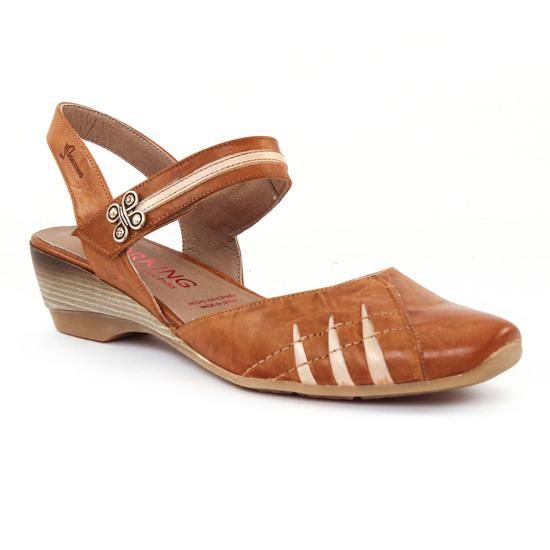 Nu Pieds Et Sandales Dorking 6230 Cuero Naturel, vue principale de la chaussure femme