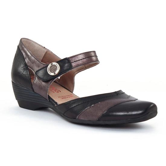 Dorking 6232 Negro | nu pied trotteurs noir violet printemps