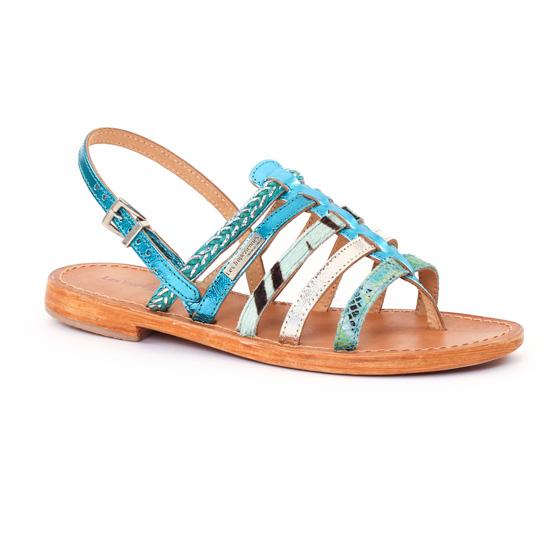 Nu Pieds Et Sandales Les Tropeziennes Beguin Bleu Multi, vue principale de la chaussure femme