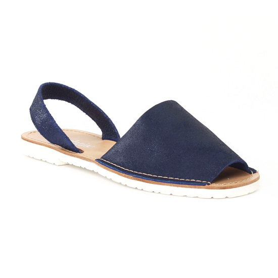 Nu Pieds Et Sandales Scarlatine 44265 Navy, vue principale de la chaussure femme
