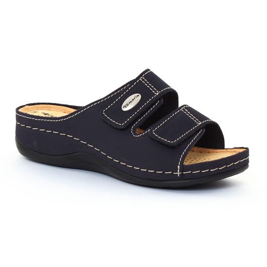 Tamaris 27510 Navy | sandales bleu marine printemps été chez
