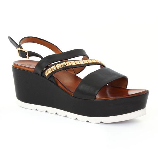 Nu Pieds Et Sandales Femme Plus Viana Black, vue principale de la chaussure femme
