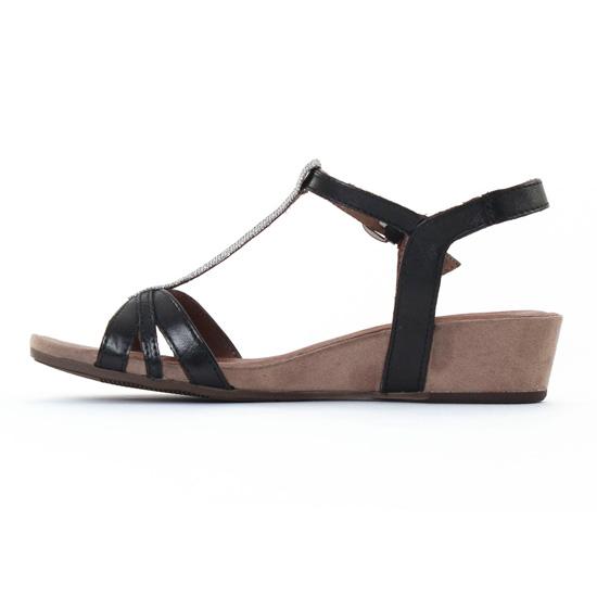 Tamaris 28202 Black | sandale compensées noir printemps été