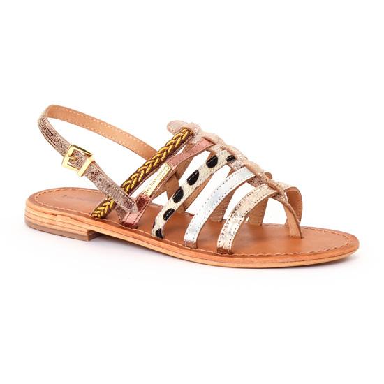 Nu Pieds Et Sandales Les Tropeziennes Beguin Or Beige, vue principale de la chaussure femme