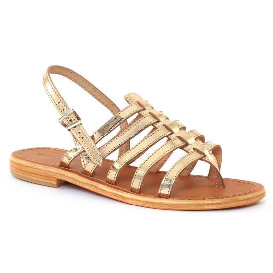 Nu Pieds Et Sandales Les Tropeziennes Herisson Or, vue principale de la chaussure femme