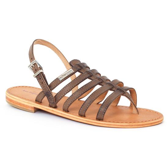 Nu Pieds Et Sandales Les Tropeziennes Heriber Gris, vue principale de la chaussure femme