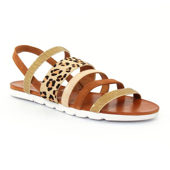 Nu Pieds Et Sandales Femme Plus Elodie Camel, vue principale de la chaussure femme