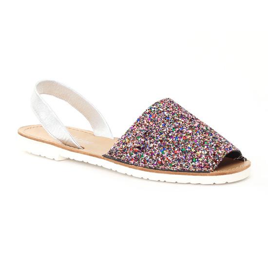Nu Pieds Et Sandales Scarlatine 44265 Silver, vue principale de la chaussure femme