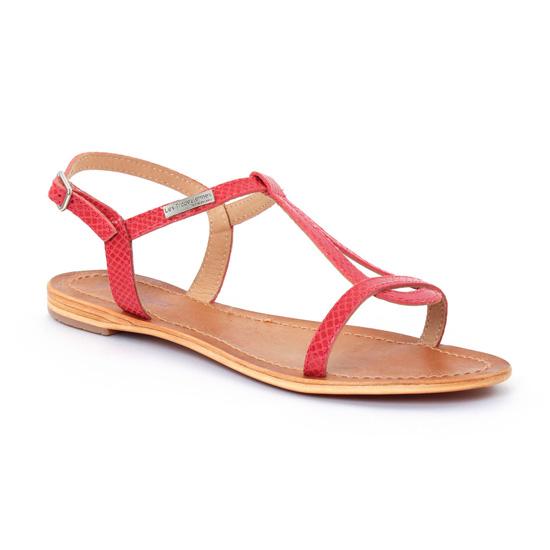 Nu Pieds Et Sandales Les Tropeziennes Hamat Rouge serpent, vue principale de la chaussure femme