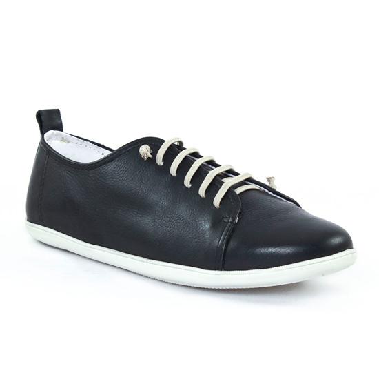 Tennis Et Baskets Mode Scarlatine om6327 Noir Blanc, vue principale de la chaussure femme