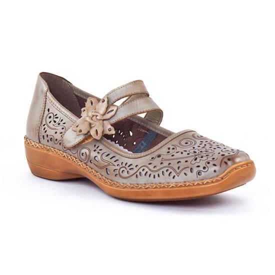 Escarpins Rieker 41372 Beige foncé, vue principale de la chaussure femme