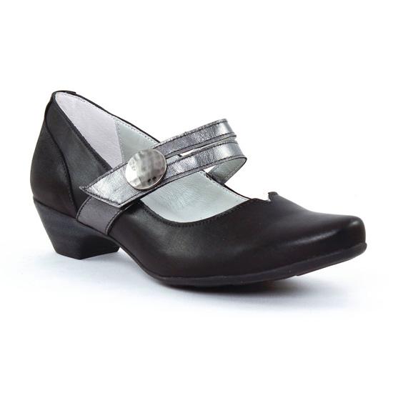 Escarpins Scarlatine 7904 Noir Etain, vue principale de la chaussure femme