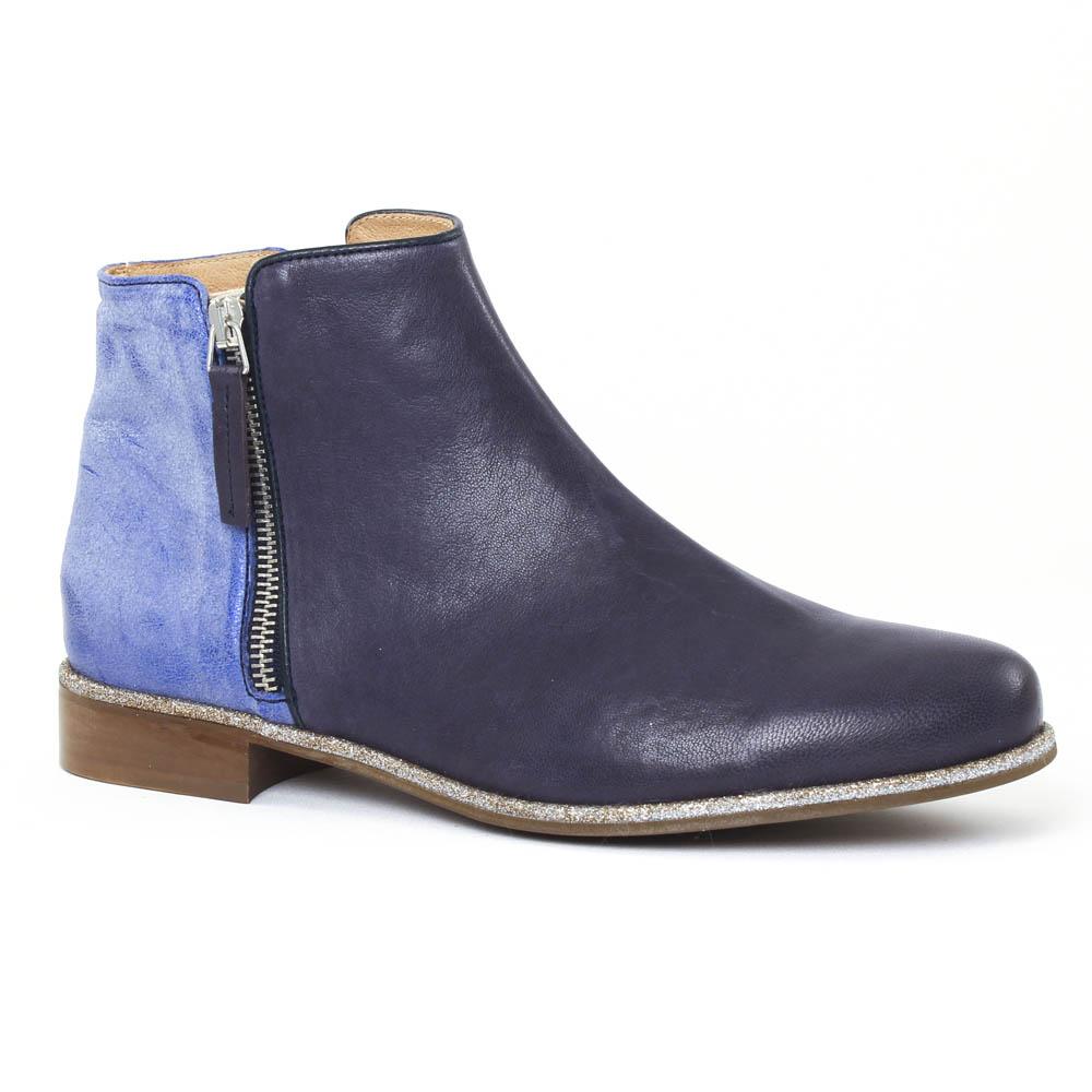 boots d'été bleu mode femme printemps été vue 1