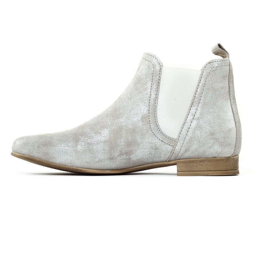 scarlatine 1205 millenium argent | boot élastiquées gris argent
