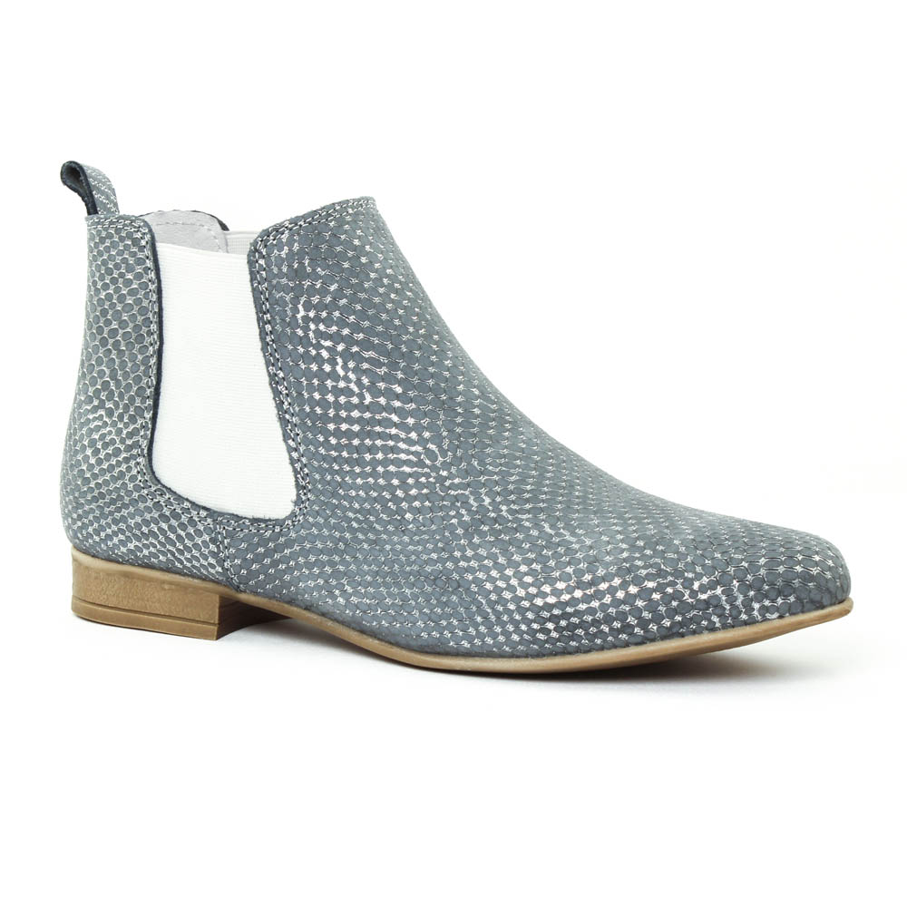 scarlatine 1048 jeans | boot élastiquées pyhton bleu printemps été