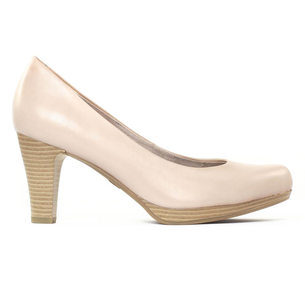 9286af3bad9 escarpins beige rose mode femme printemps été vue 2