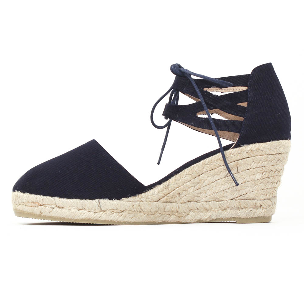 retail prices look good shoes sale new release Gaimo Verona Marine | espadrille compensées bleu marine ...