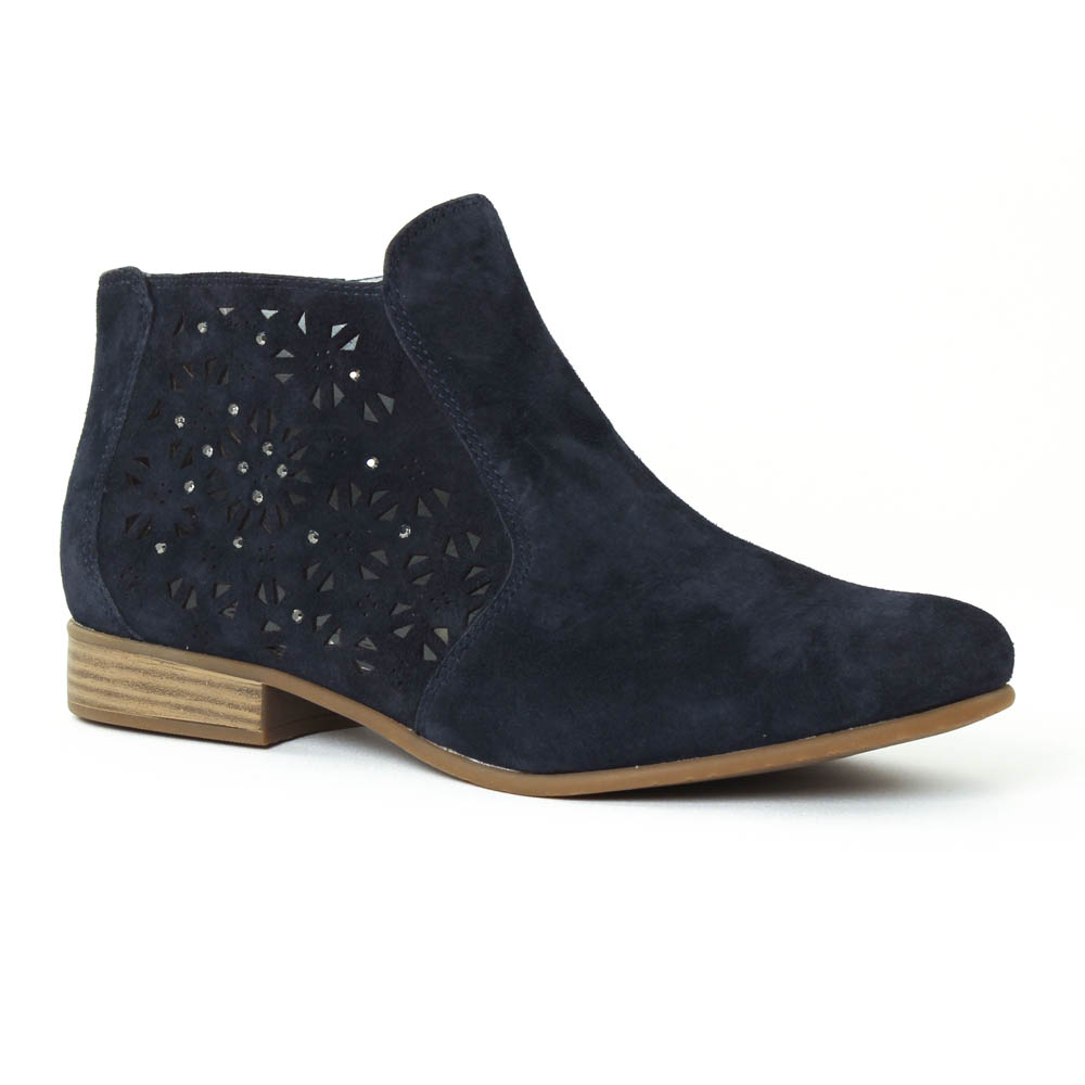 boots femme bleu marine tamaris car interior design. Black Bedroom Furniture Sets. Home Design Ideas