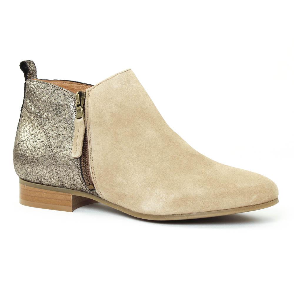 scarlatine 77636 sable low boots python gris beige printemps t chez trois par 3. Black Bedroom Furniture Sets. Home Design Ideas