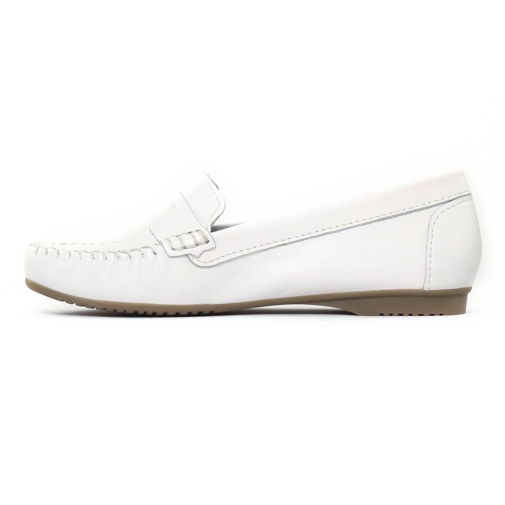 mocassins confort blanc mode femme printemps été vue 3