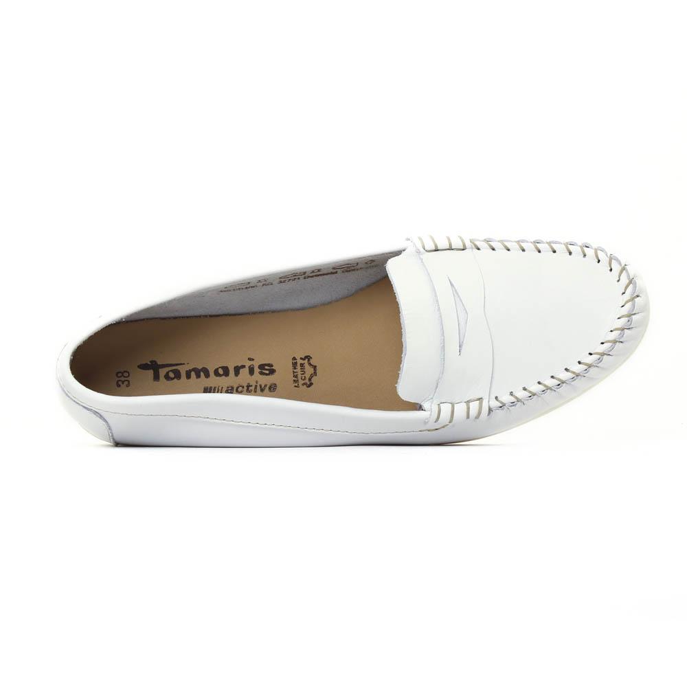Tamaris 24210 White | mocassin confort blanc printemps été