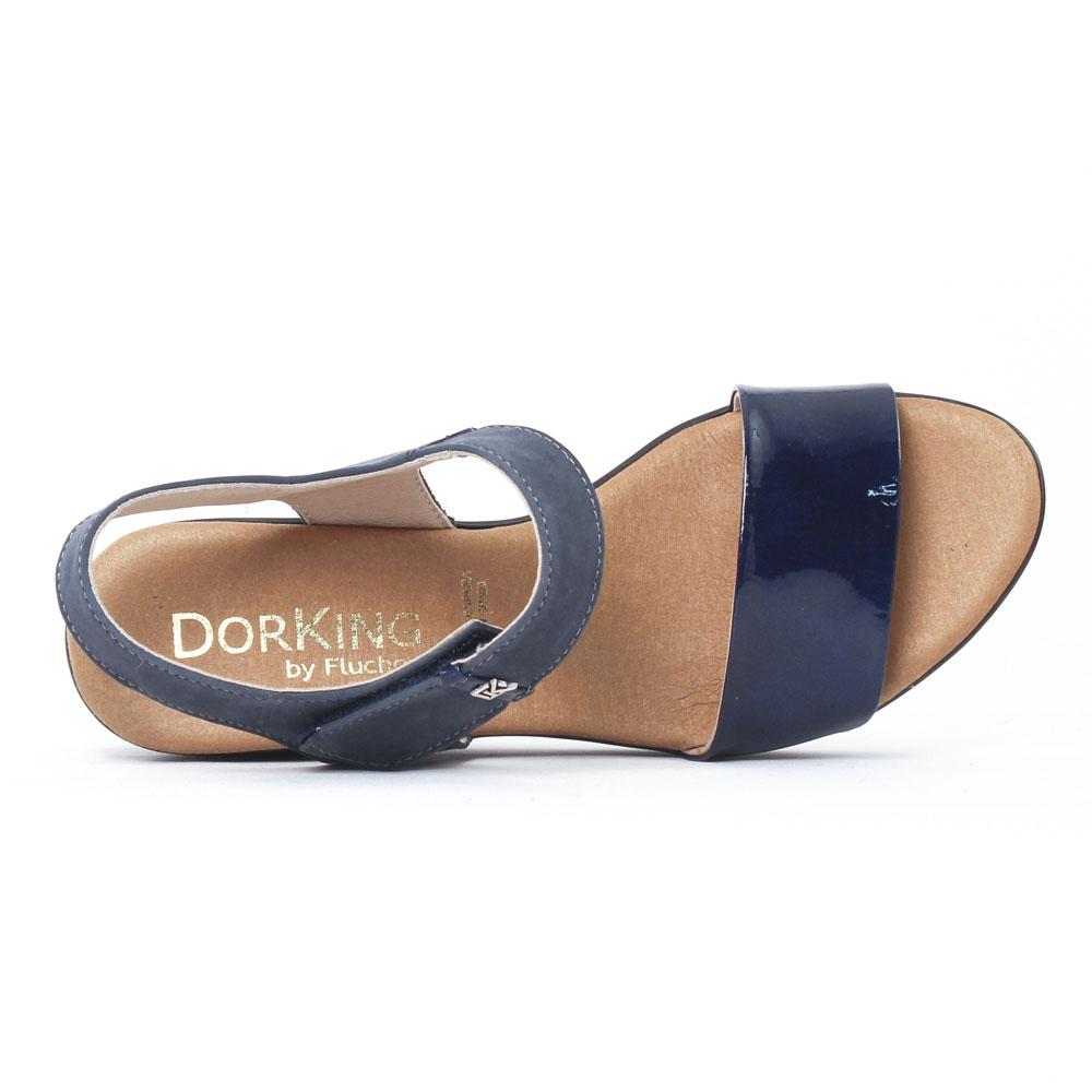 regarder 91999 5e1cb Dorking Tomy 6601 Bleu | nu-pied compensés bleu marine ...