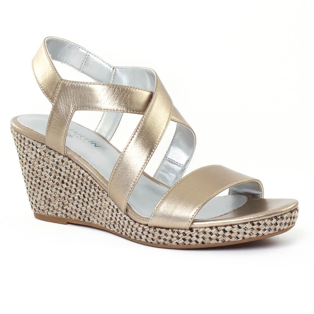 Chaussure compensée doré Chaussure lescahiersdalter