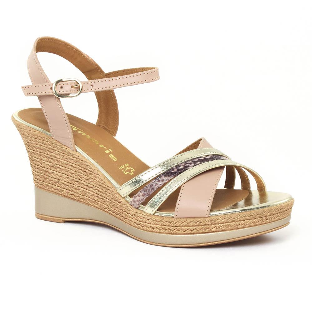 Sandales Compensées Rose Tamaris Tamaris 4u97F2g