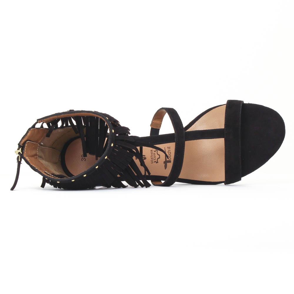 Tamaris 28346 Black | nu pied talon hauts noir printemps été