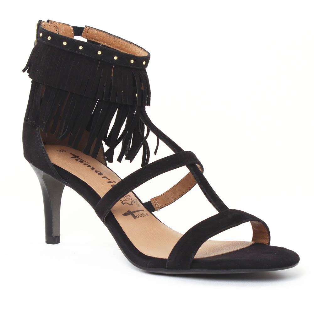 e0086b439ff nu-pieds talons hauts noir mode femme printemps été vue 1