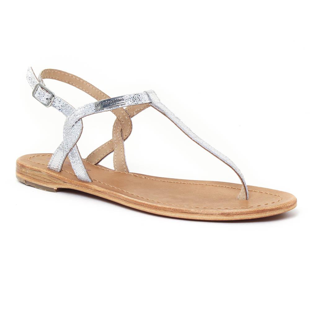 40042a9d9d60a4 Les Tropeziennes Billy Argent | sandales gris argent printemps été ...