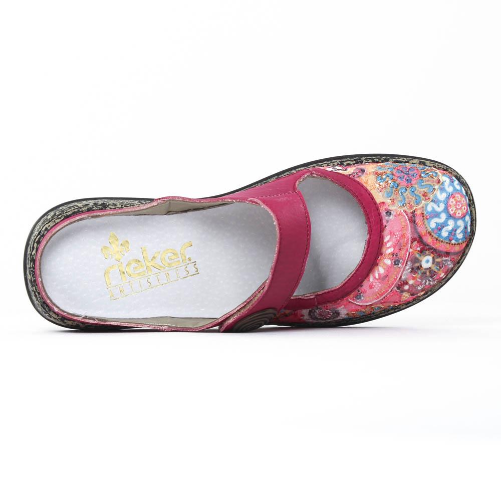 rieker 46385 pink multi sandales rose printemps t chez trois par 3. Black Bedroom Furniture Sets. Home Design Ideas