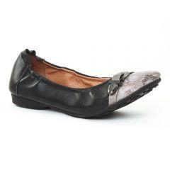 ballerines-confort noir argent: même style de chaussures en ligne pour femmes que les Tamaris
