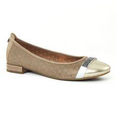 ballerines marron doré: même style de chaussures en ligne pour femmes que les Scarlatine